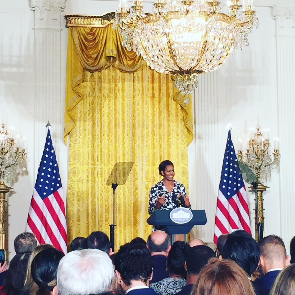 Wow oh wow, this was such an incredible experience. Thank you Ad Council for the opportunity to watch the First Lady announce her Better Make Room initiative.