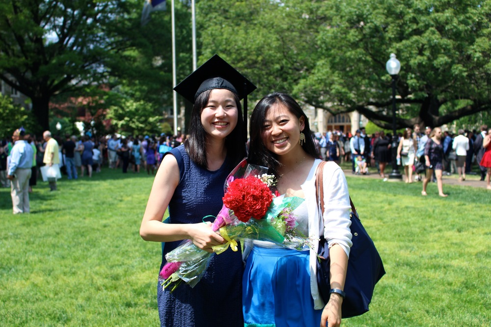 Georgetown Graduation 2015.Cheering on a friend at her graduation.
