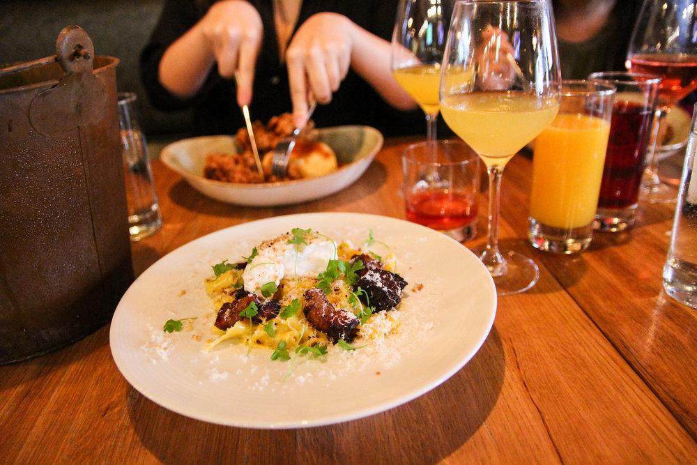 Craving pasta? Order this carbonara dish.