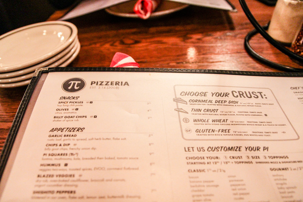 Your typical menu photo