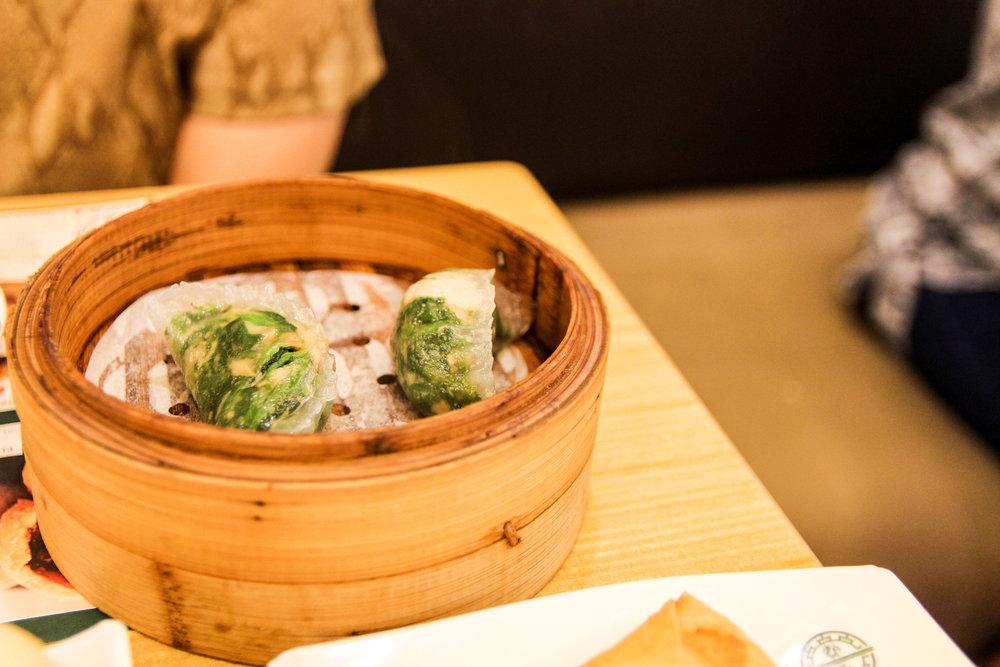 Spinach Shrimp Dumplings