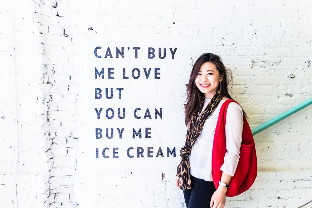 But I do love ice cream