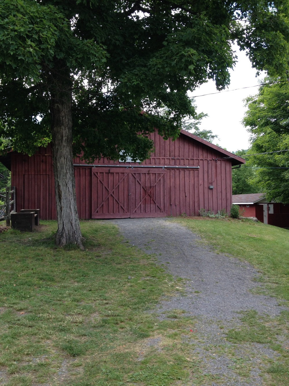 Reception Barn Outside known as the Craft barn during fair season