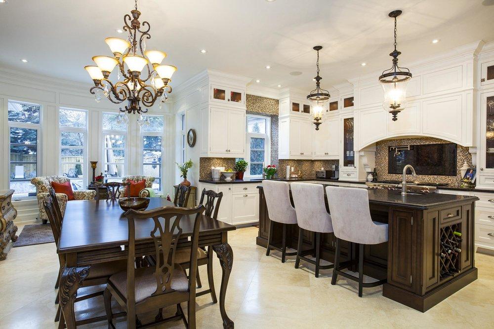 Wide kitchen photos.