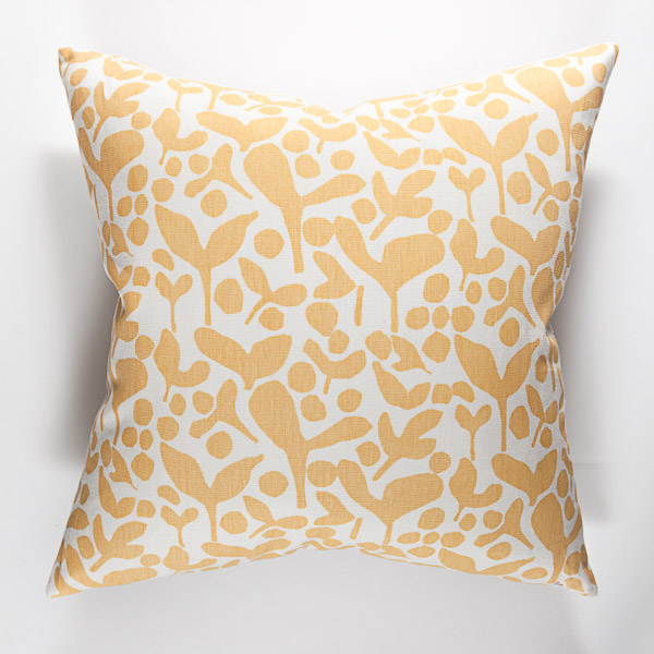 Pods print pillow in Anise.