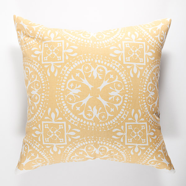 Frances print pillow in Anise.