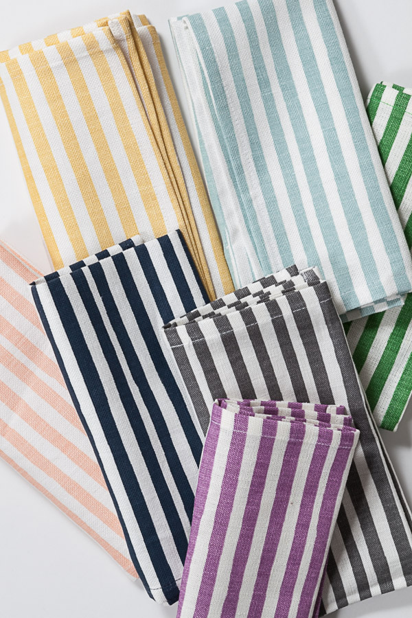 Mini-stripe napkins.