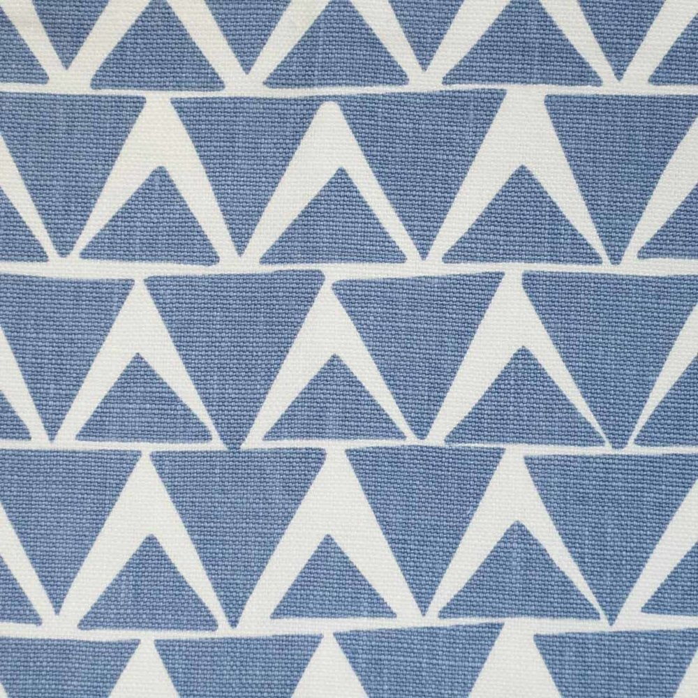 Triangles in Cornflower Blue