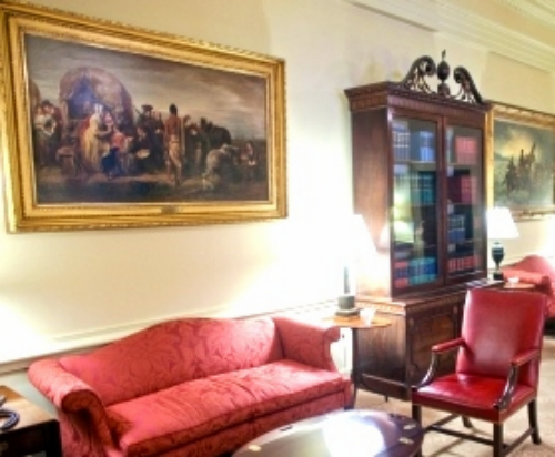 WILLIAM  HENRY  POWELL ,   Westward Expansion ;  installed in the West Wing Reception of the White House, Washington, DC