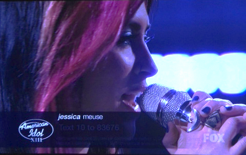 American Idol  March 2014 Two Moon Ring in sterling silver on contestant Jessica Meuse