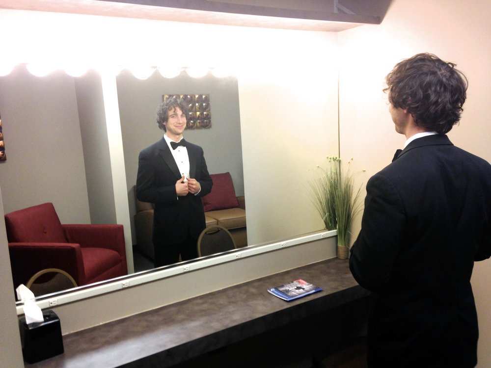 Backstage before singing Brahms' Requiem at the Memphis Symphony