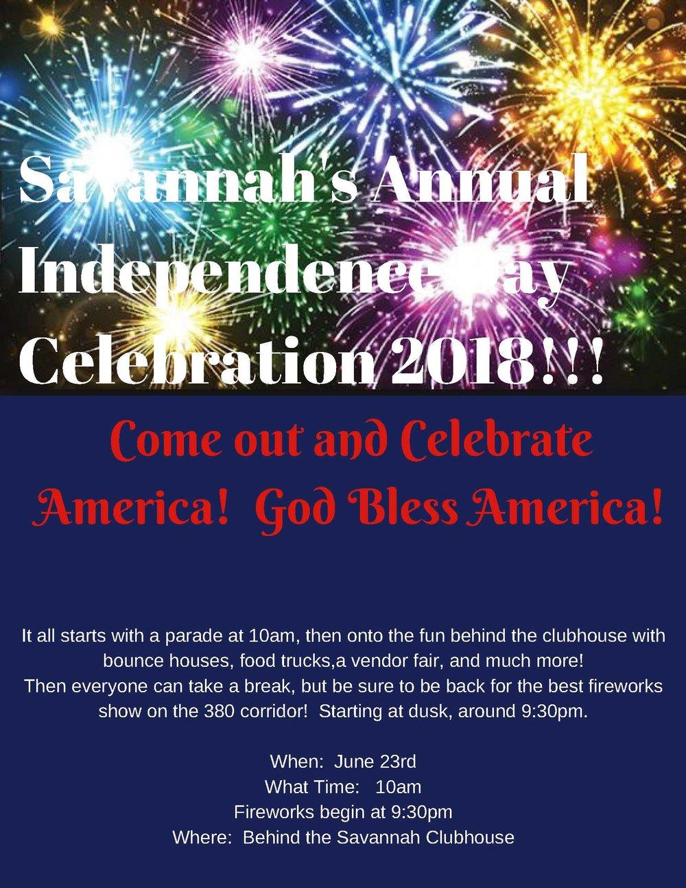 Savannah;'s Annual Independance Day 2018 Celebration!!! (13).jpg