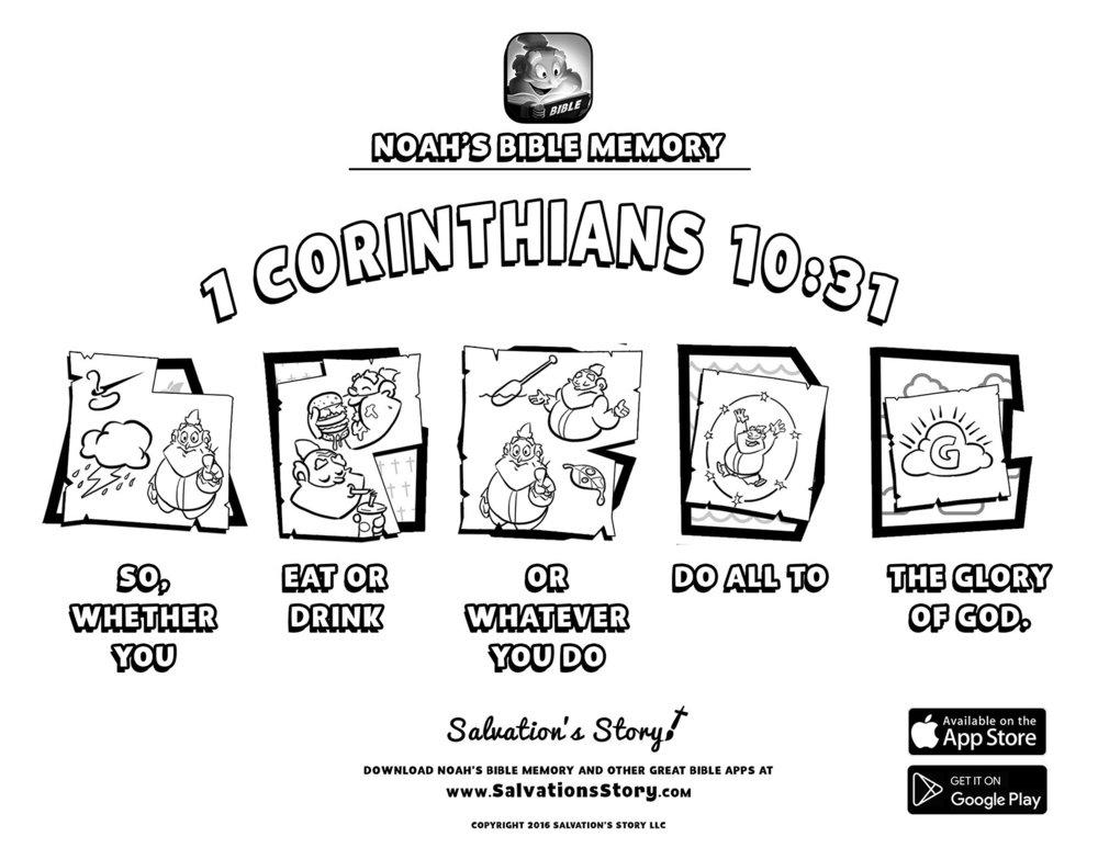 Salvations Story - Bible Memory  1 Corinthians 10-31.jpg