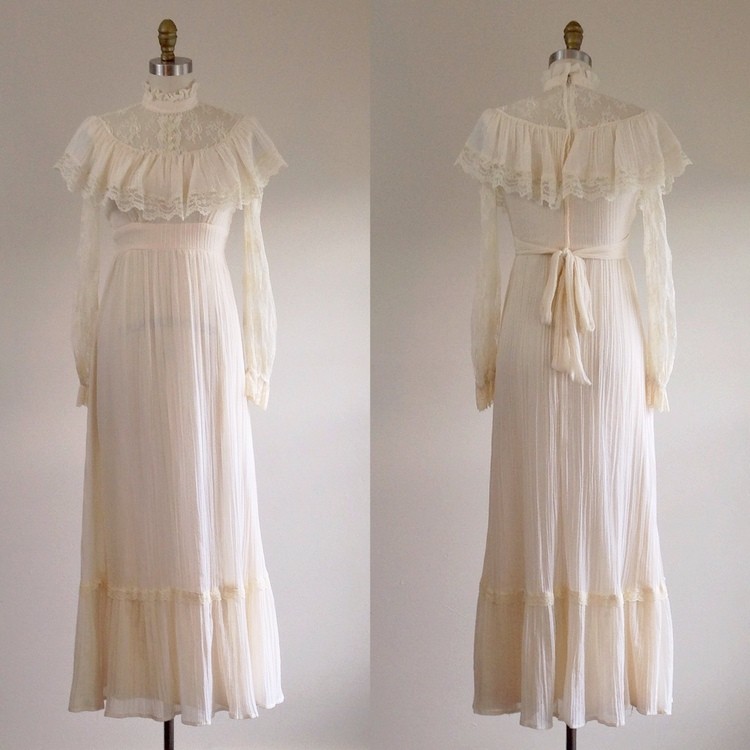 Edwardian style lace wedding dress — The Ivy Retreat