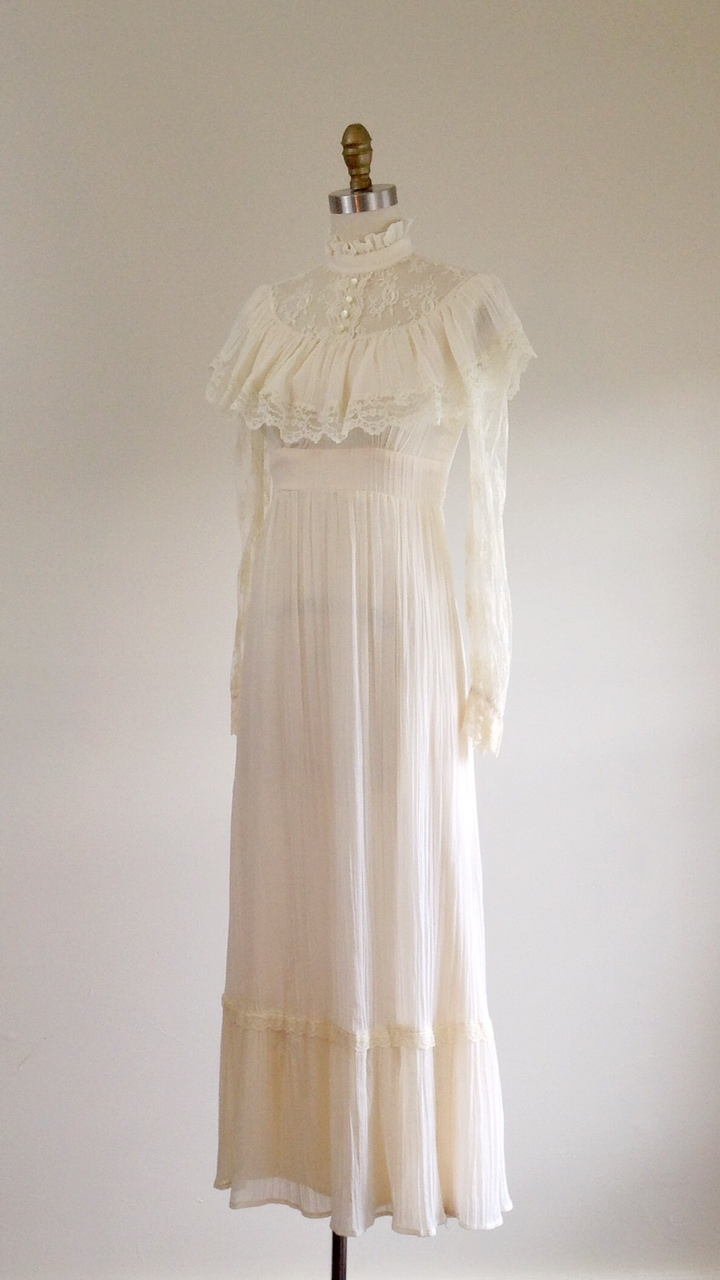 Edwardian style lace wedding dress — The Ivy Retreat