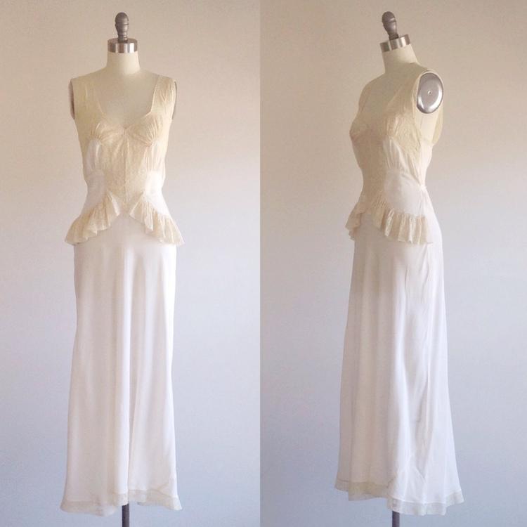 Ivory wedding dress-Ivory lingerie-1940s wedding dress- Lace ...