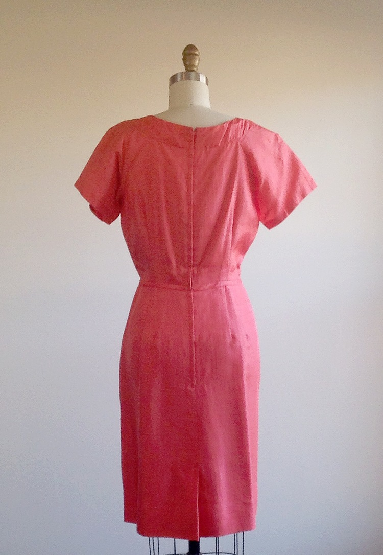 Pink dress- Coral dress- Party dress- Cocktail dress- 50s day dress ...