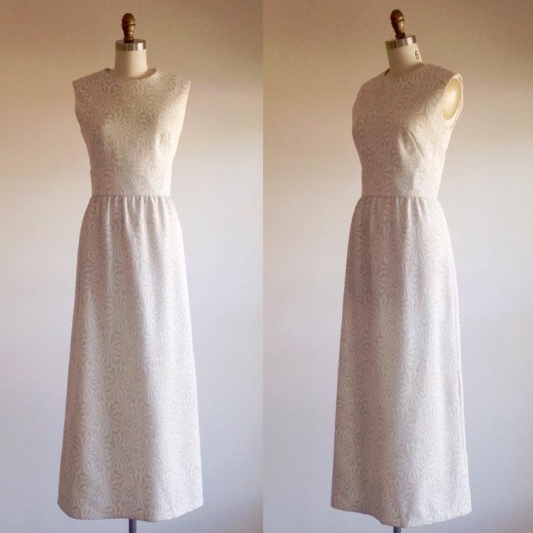 White Wedding Dress Simple Wedding Dress Boho Wedding Dress Mod Wedding Dress