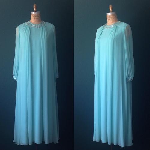 c9a4e592311 504-Aqua dress- Aqua gown- Blue dress- Chiffon dress- Aqua prom dress
