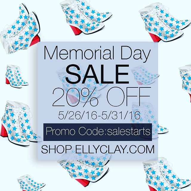 Last few days to take 20% off! #memorialday #sale #shoes