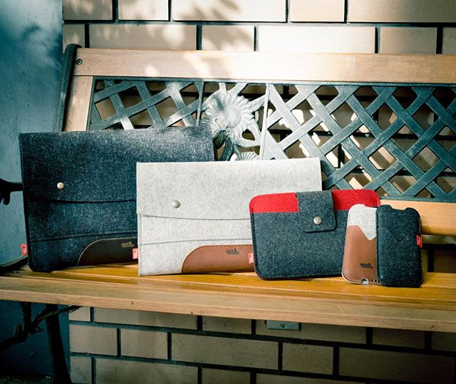 Felt & Leather Case by Pack & Smooch (@packandsmooch for iPhone, iPad, MacBook, MacBook Air, MacBook Pro Now On the PLUS YU