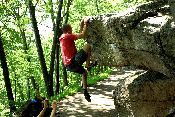 Dislocator Roof, Gunks, NY.  Photograph by Bob Scarano.