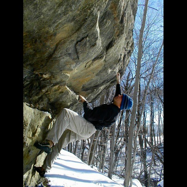 So much #snow in #newengland  Check out our #winter #bouldering #tips from #backintheday on the website.  #newenglandbouldering #climberism #climbing #lincolnwoods #rockclimbing