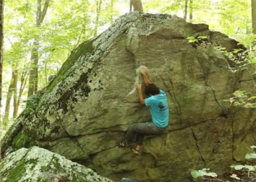 Screenshot of Dan Yagmin ripping up the CT boulders.