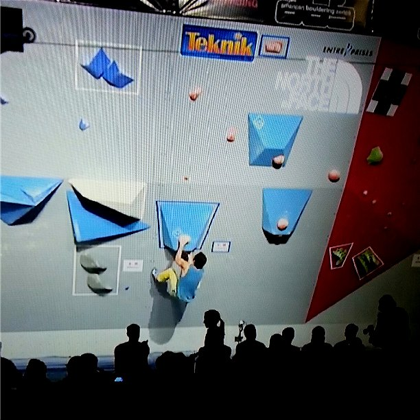 Screenshot from the lt11.tv broadcast of Josh Larson in the finals at the ABS 16 National Championships.