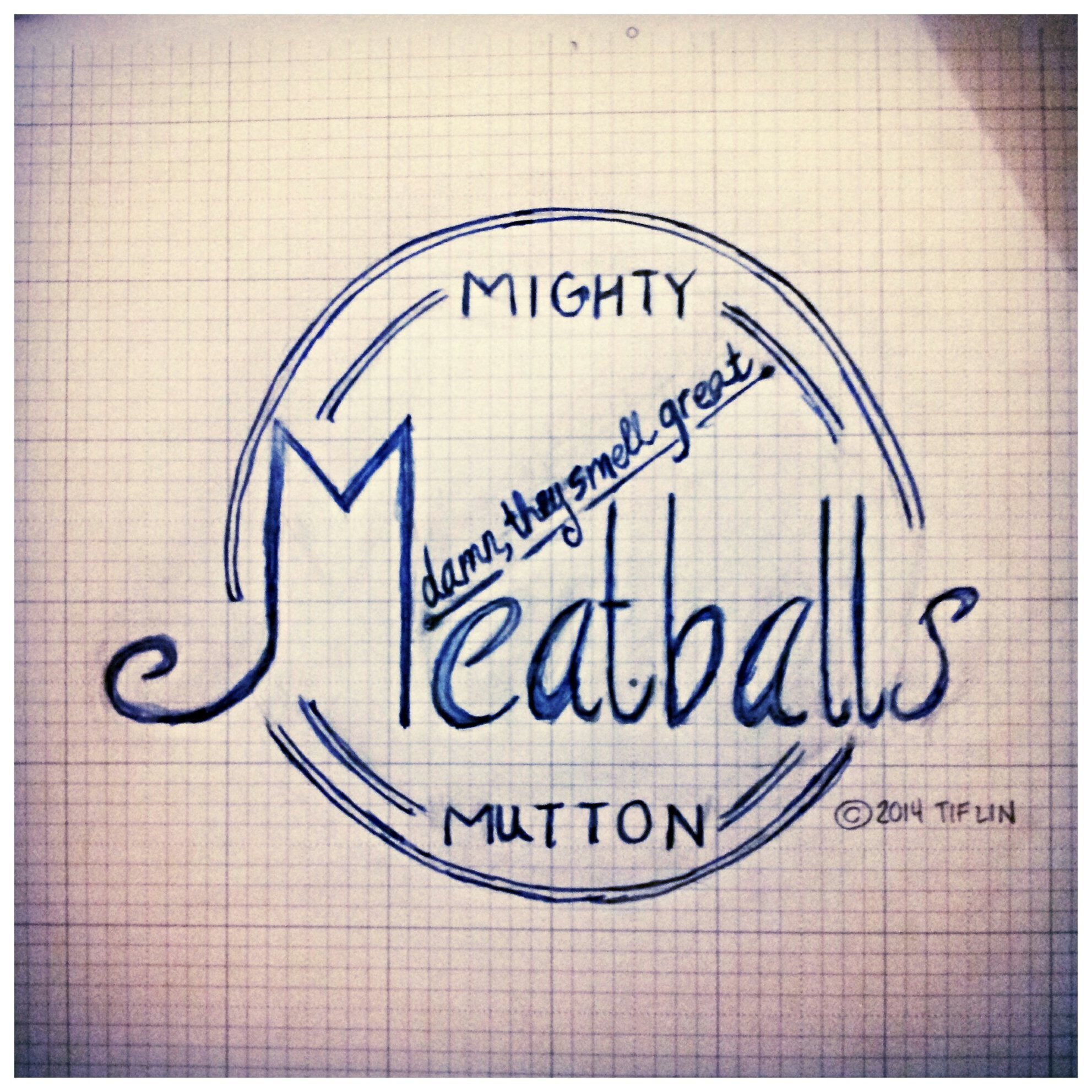 Journal entry for tonight. I made a #logo for our #dinner, #meatballs. What'd you have?