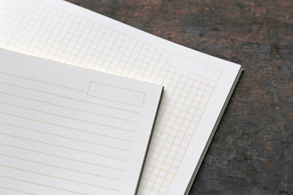 LR00038-47 Rhodia - Heritage  Book Block Notebook / A5 Raw Binding Notebook / 80 ivory sheets / line or grid ($15)