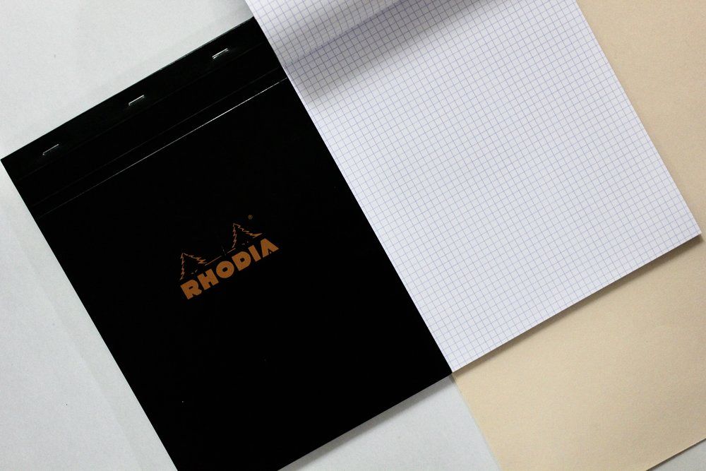 Rhodia Basics / A4 Grid ★ 80 sheets ($10)