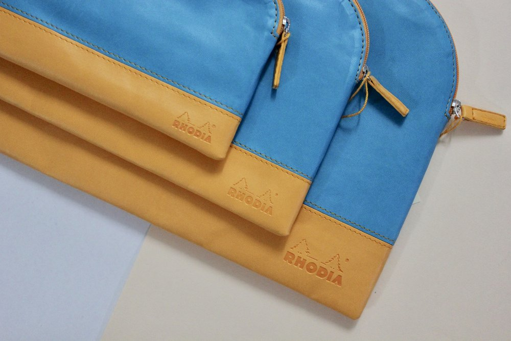 rhodiarama  zipped pouch in Turquoise  / S ($17) / M ($18) / L ($21)