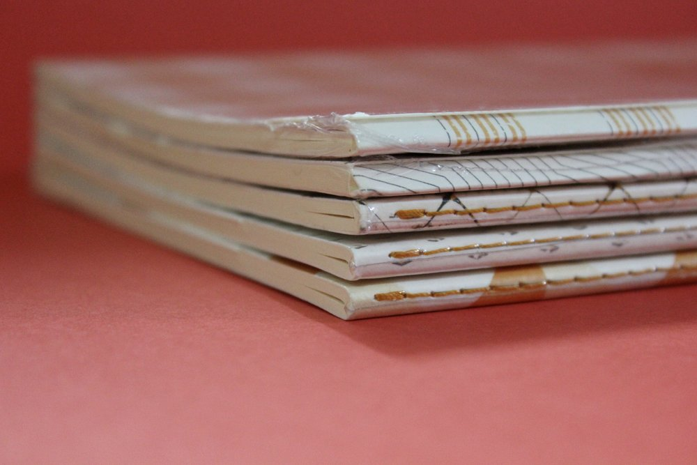 Rhodia - Heritage /  A5 Spine Sewn Notebook  / 32 ivory sheet / lined ($15)