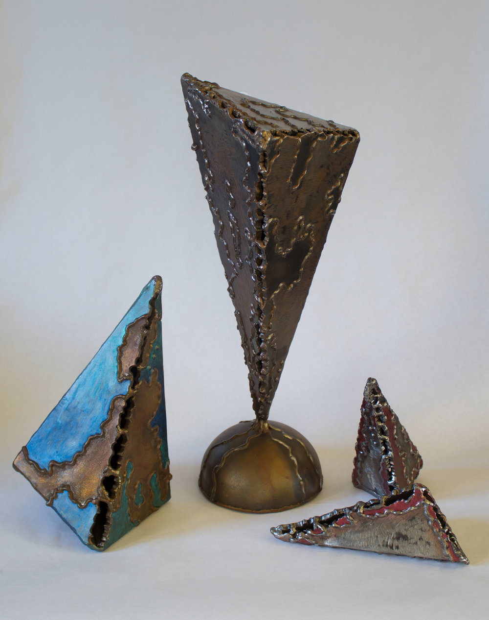 fractured earth   ,    atlas fragmented   , &    two in time    (table top sculptures)