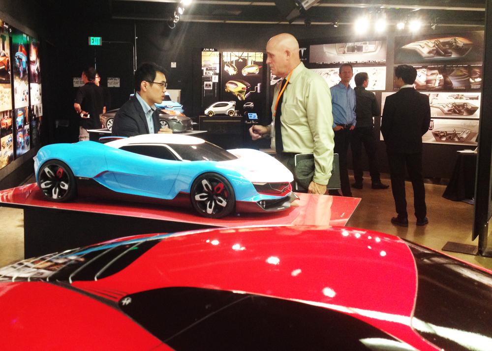 Alumnus Truman Pollard of Mazda interviews Yun Hyuk Jeong.