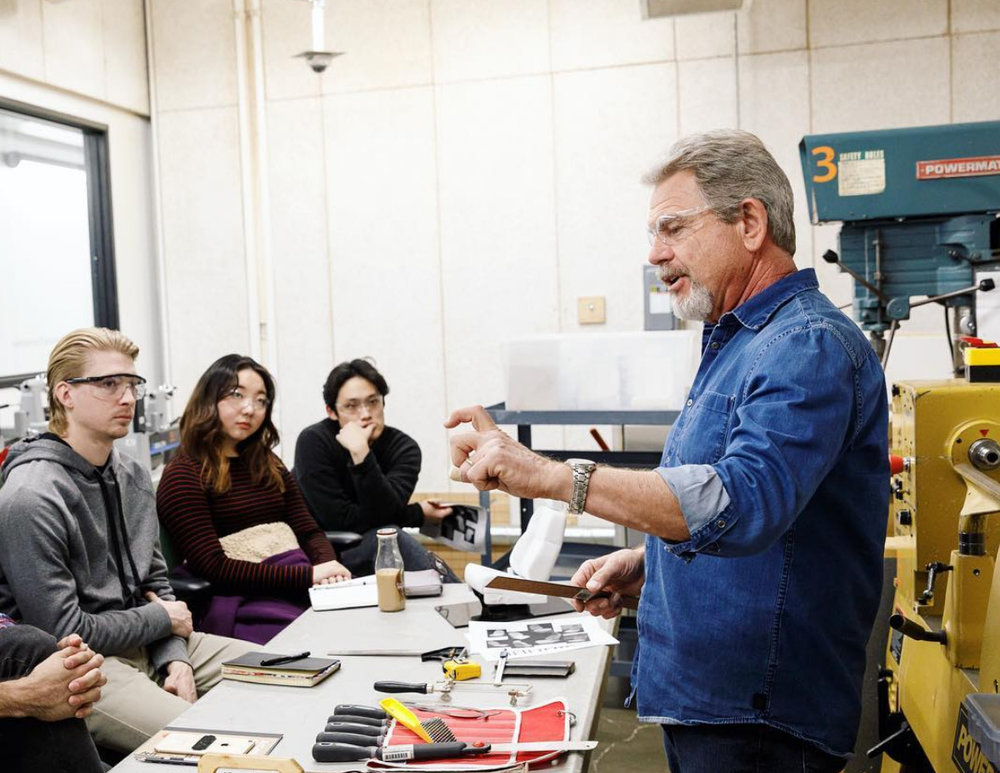 "Screenshot-2018-6-5 ArtCenter College of Design on Instagram ""Dennis Campbell showing students the ropes of tool usage and [...].jpg"