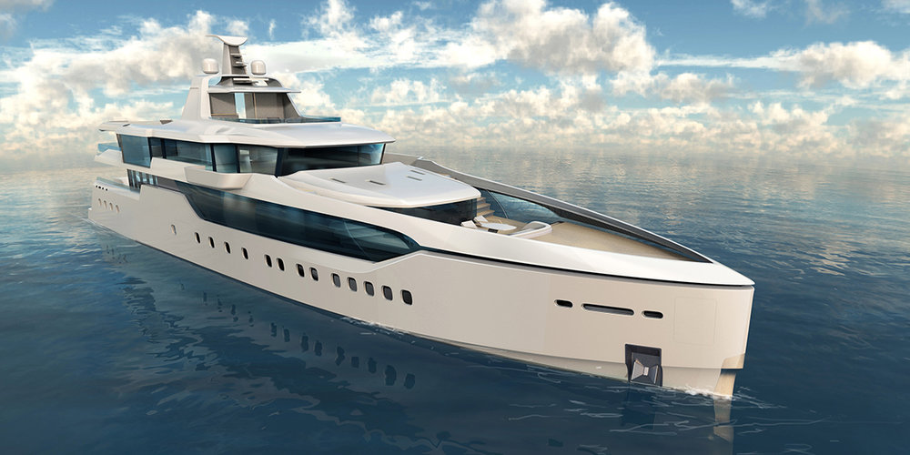 Deepsea Challenge Expedition Yacht  83 - meter expedition yacht design for marine research organization Deepsea challenge team.