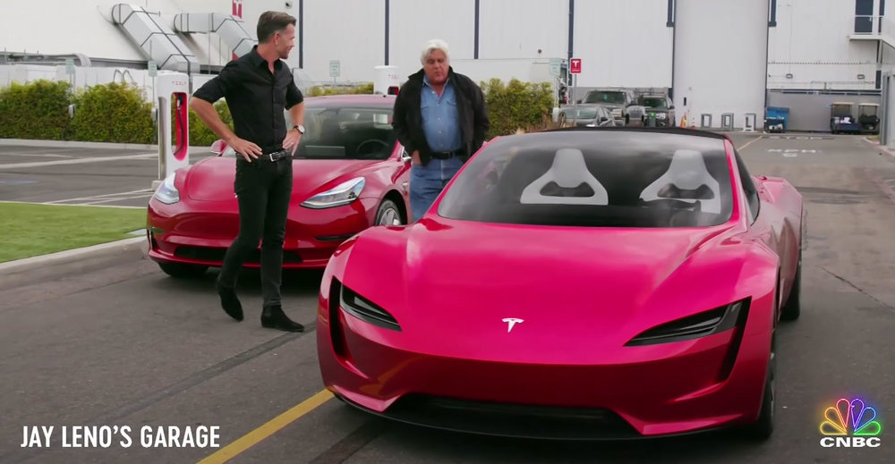 Tesla's next-gen roadster to take spotlight on upcoming episode of Jay Leno's Garage