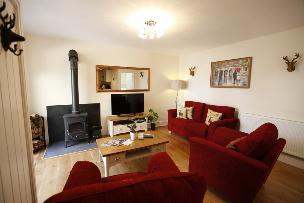 Ground Floor apartment has log burner