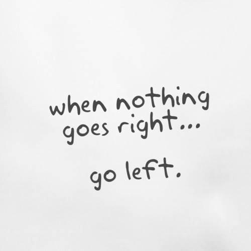 goes left
