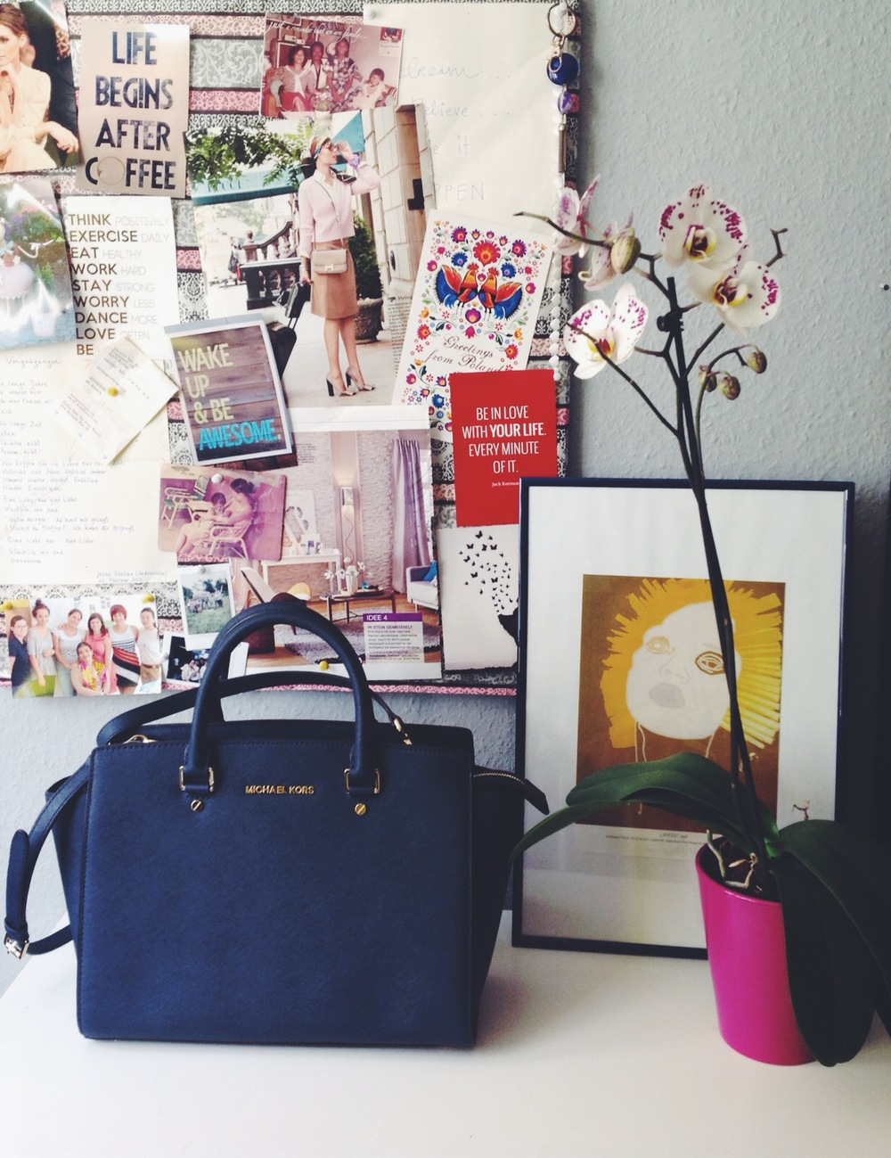 Michael Kors Selma Bag - Navy