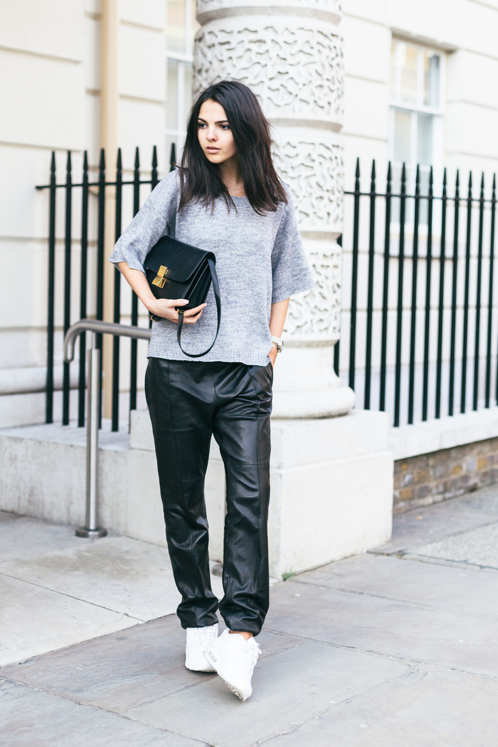 The cutest Doina Ciobanu from The Golden Diamonds, with her Celine Box Bag
