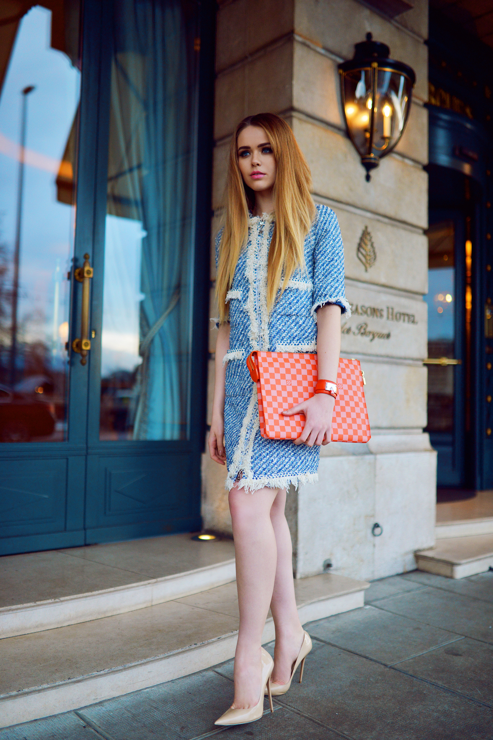 The flawless Kristina Bazan from Kayture with her head to toe Louis Vuitton
