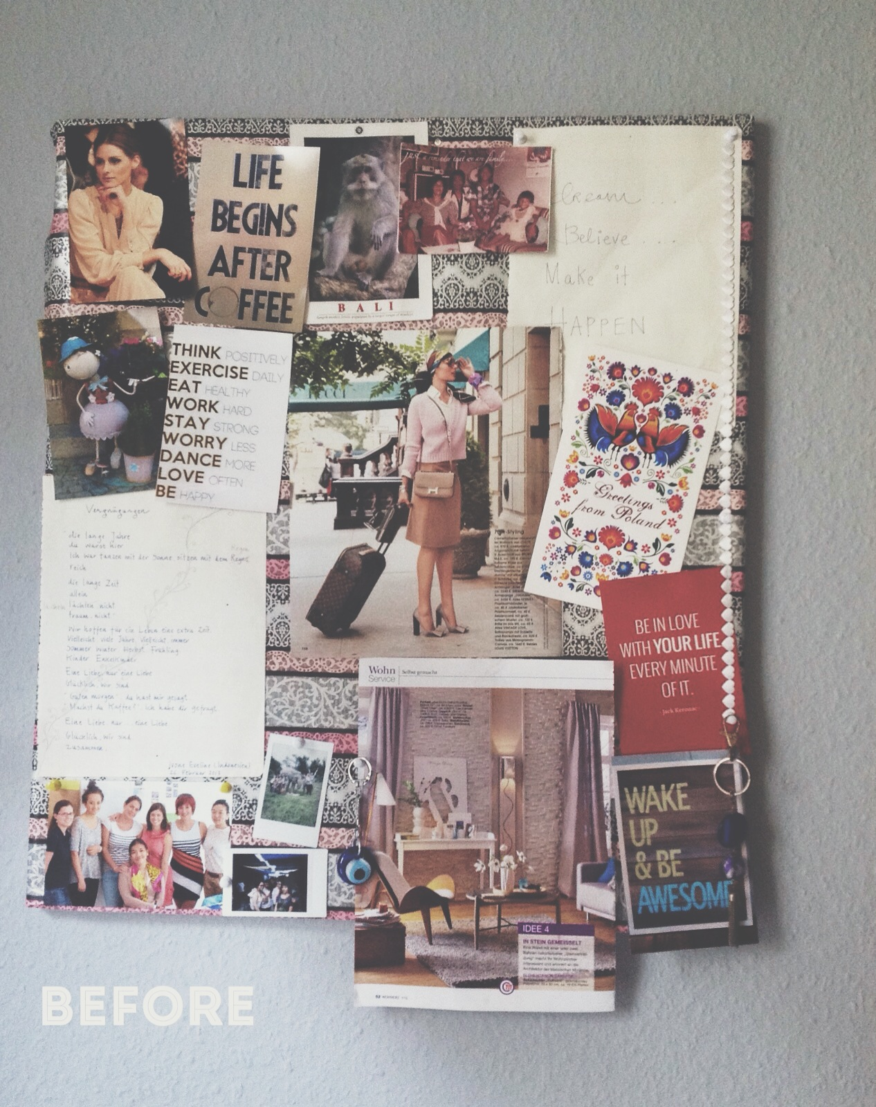 My old inspiration board