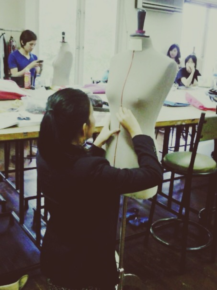 me on the very first day in fashion school, photographed by a dear dear friend of mine, Anego Iis