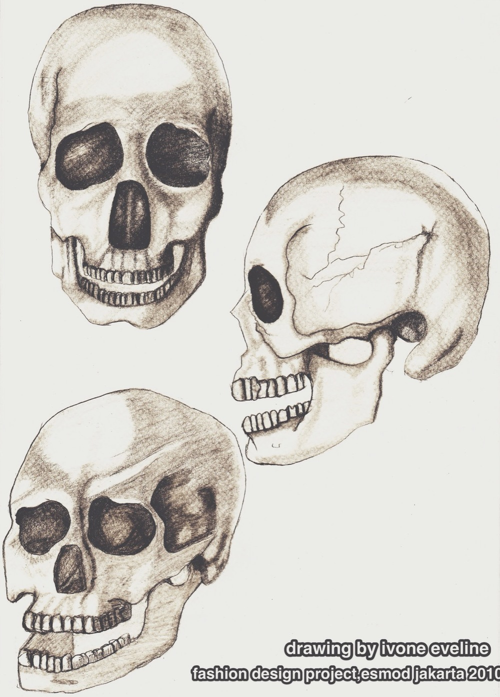 learn to draw skulls, my first fashion design project. i did it in a week. a week!