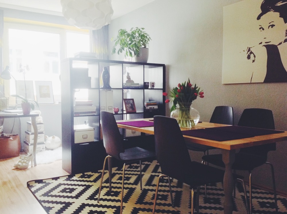 A home office slash dining room at my old apartment