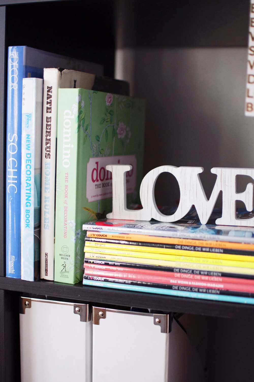 Some of my favorite decorating books, including favorite decor/fashion magazine, Couch