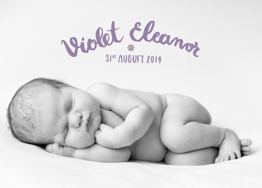Commissioned Birth Announcement - Client: Private - Lettering